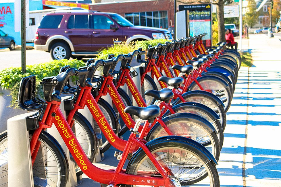Capital Bike Share in Takoma Park, MD