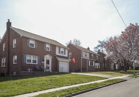 Brick homes in Drexel Hill, PA