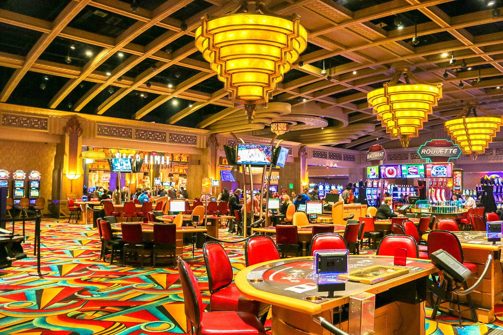 Hollywood Casino tables in Charles Town, WV