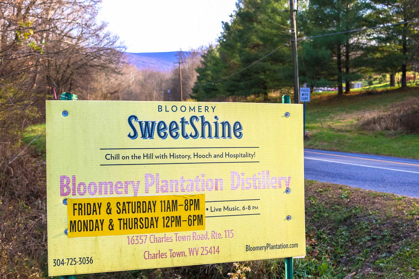 Bloomery Plantation Distillery in Charles Town, WV