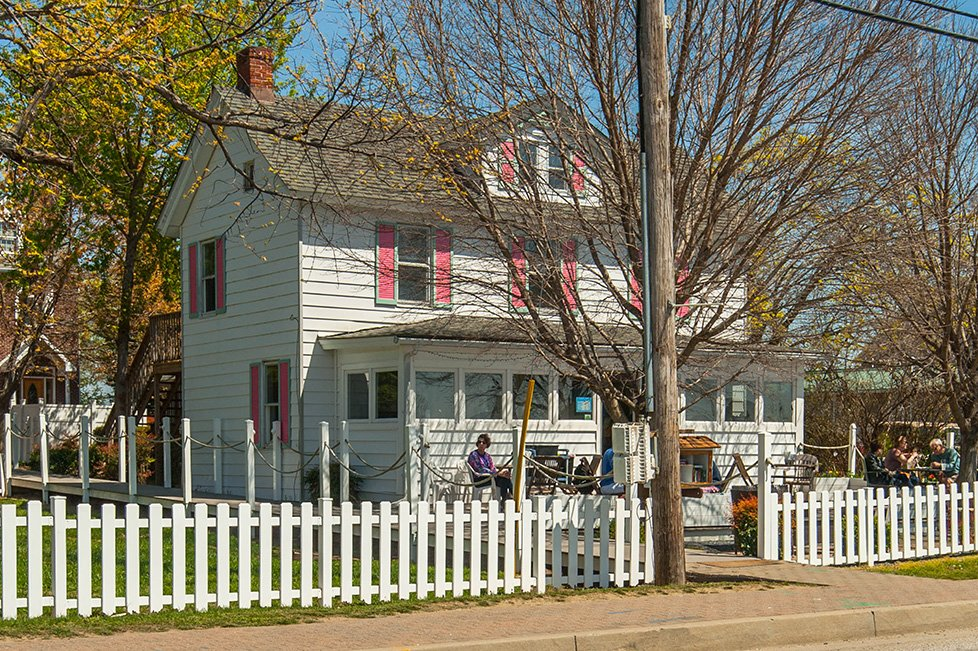 white single family home in solomons island md