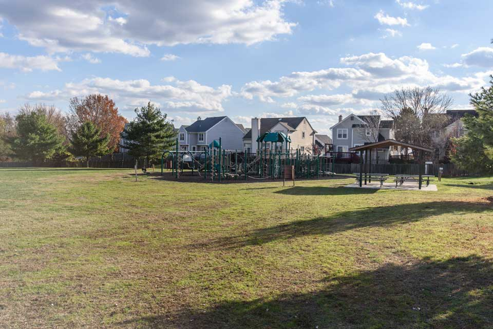Playground and residential neighborhood in Laurel, Md
