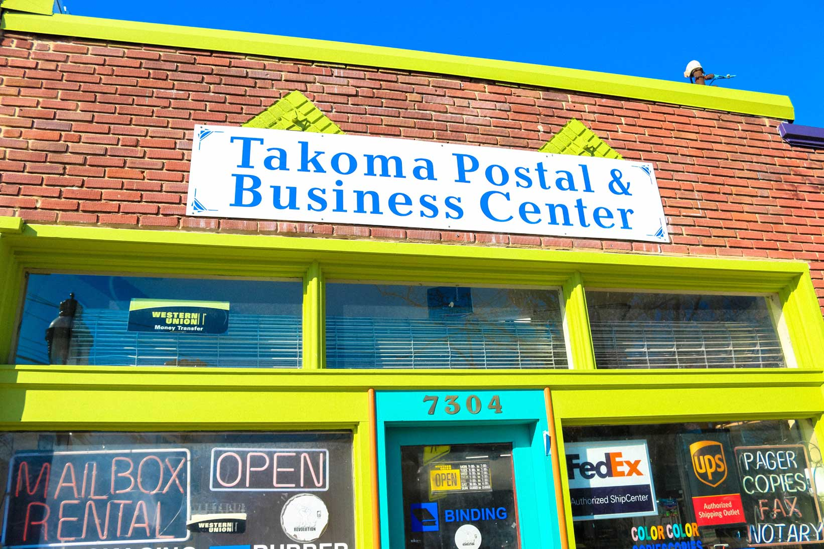 Takoma Postal & Business Center in Takoma Park, MD