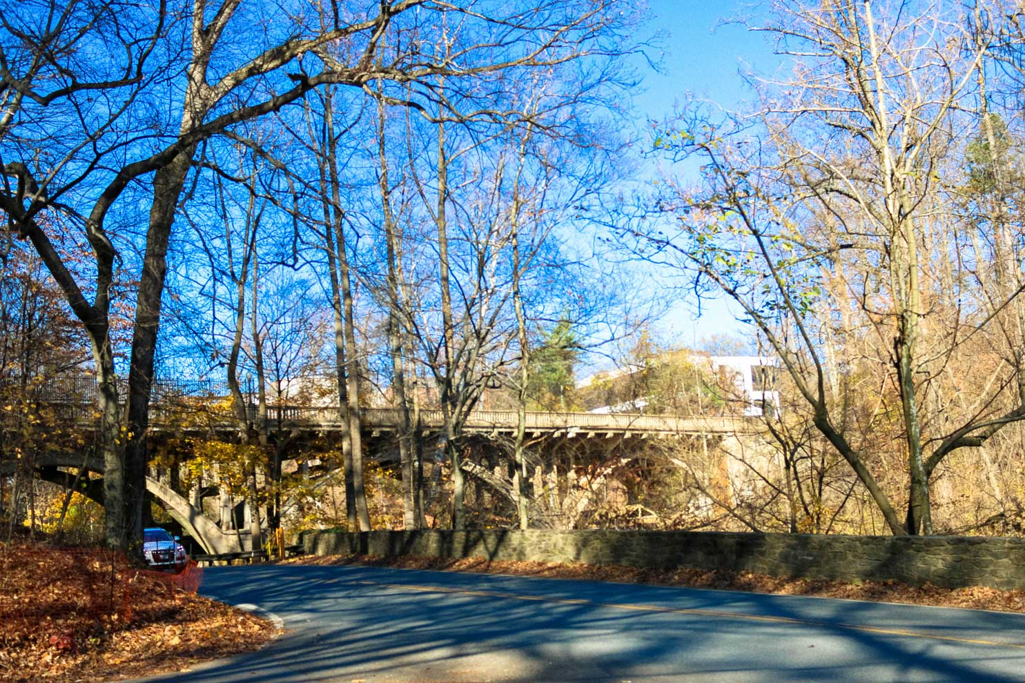 Bridge over road in Takoma Park, MD
