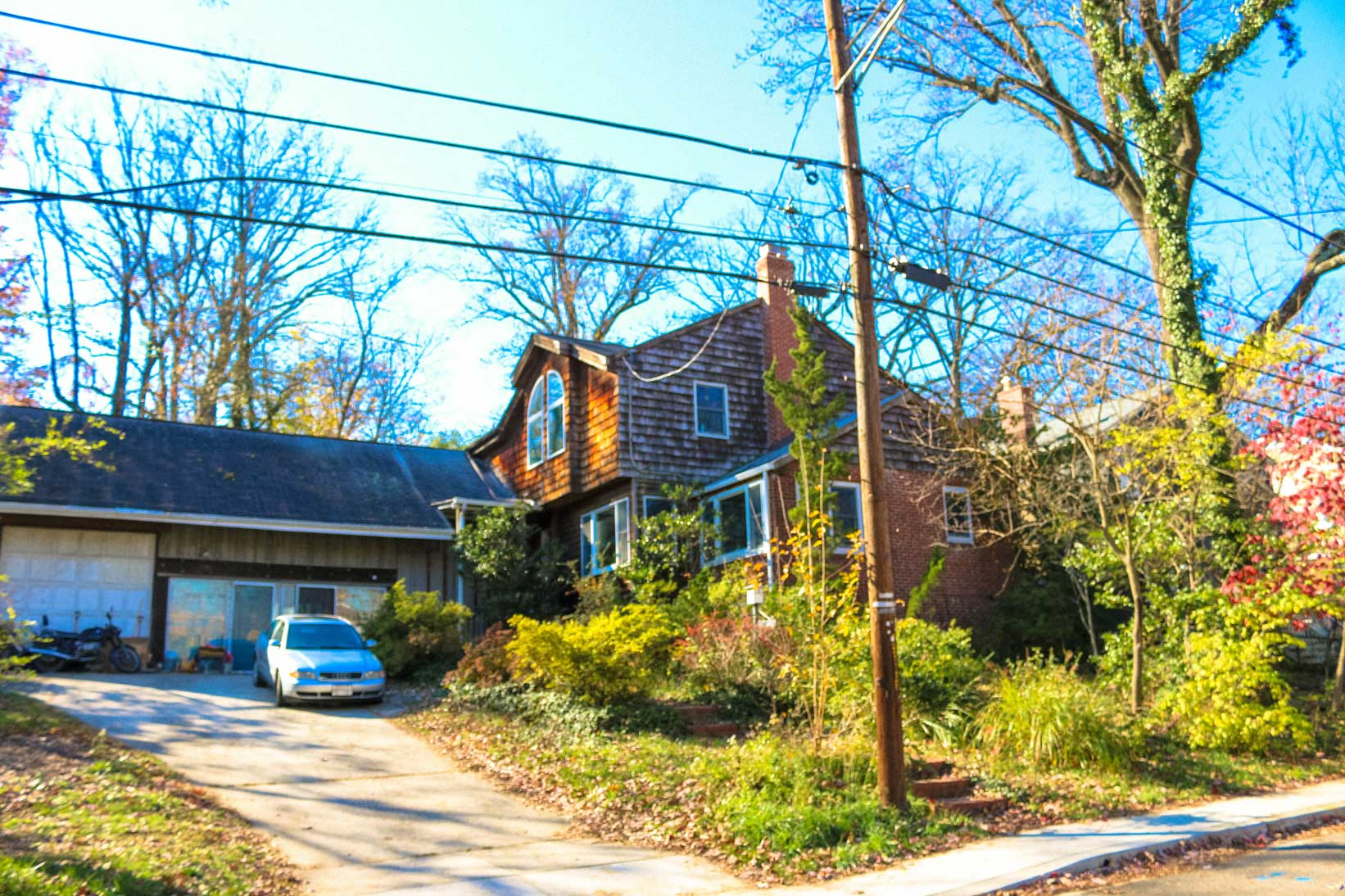 Single family home with driveway in Takoma Park, MD