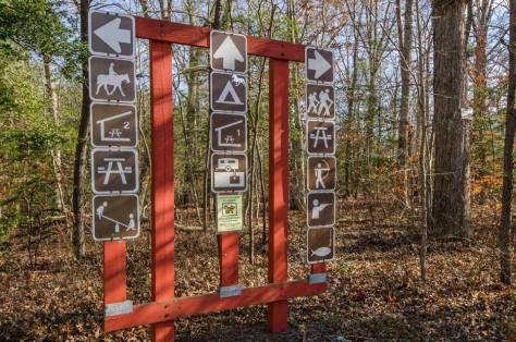 Trail signs in Waldorf, MD