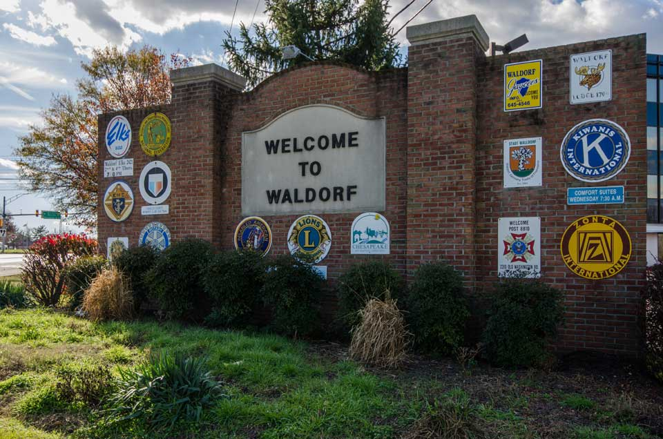 Welcome to Waldorf sign in Waldorf, MD