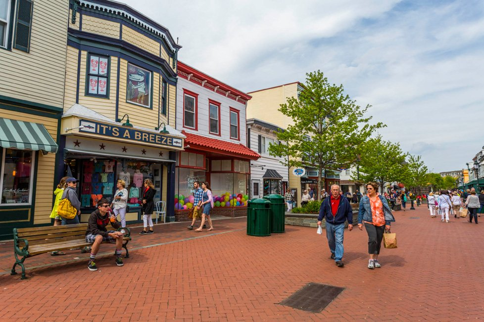 Pedestrian mall cape may nj