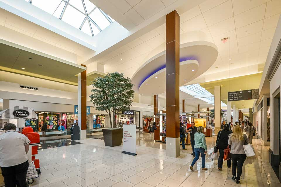 Mall interior in Cherry Hill, VA