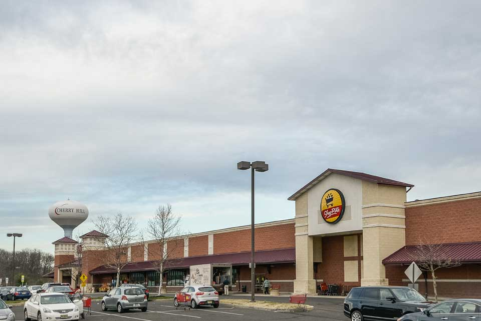 Shop Rite and water tower in Cherry Hill, VA