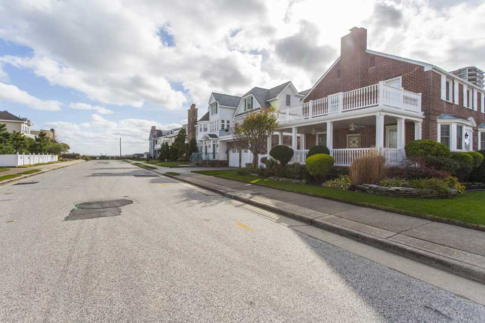 Residential Street in Margate City, NJ