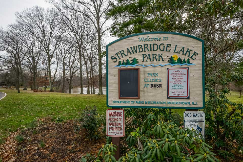 Strawbridge Lake Park in Moorestown, NJ