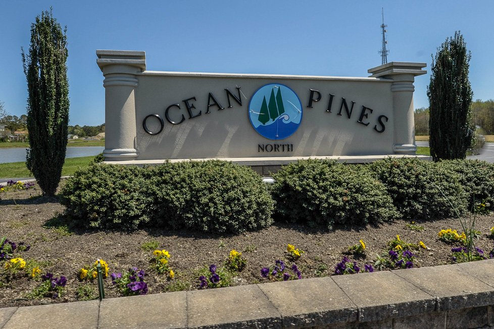 ocean pines md sign