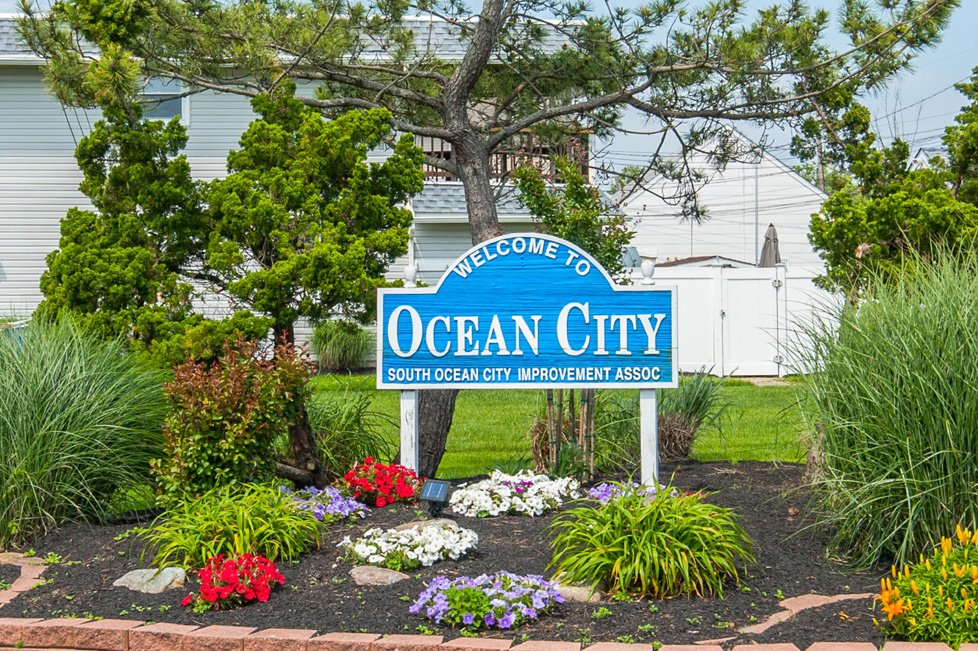 welcome to ocean city nj sign
