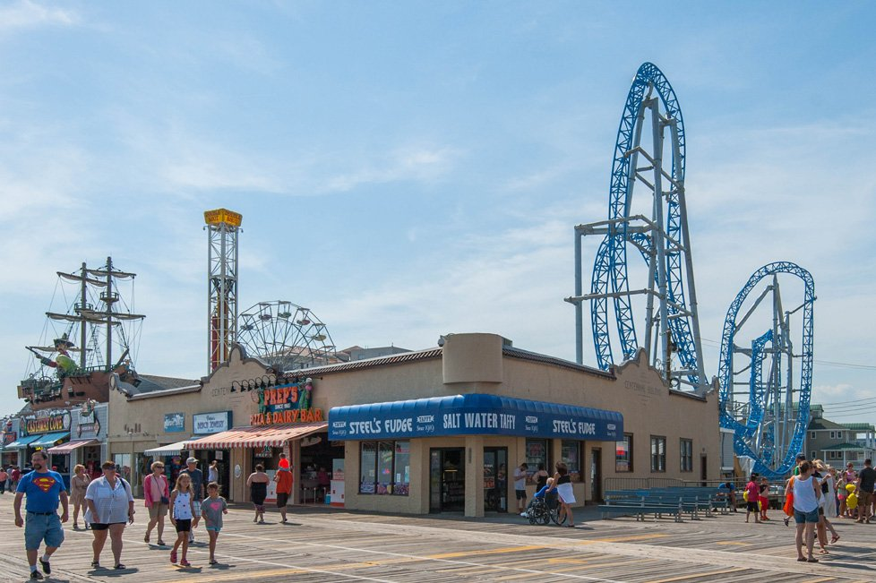 boardwalk and rides in ocean city nj