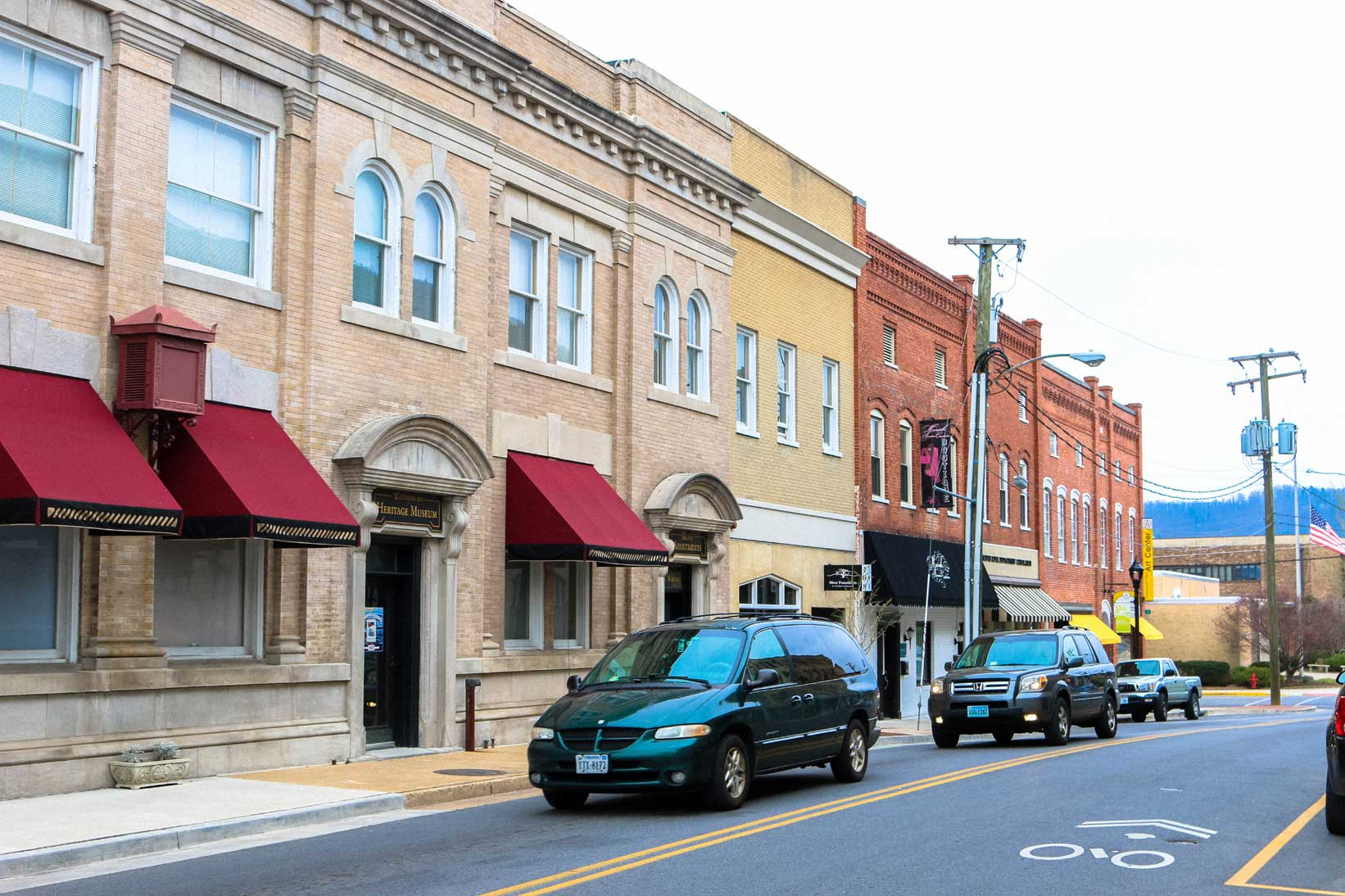 Downtown businesses in Waynesboro, VA