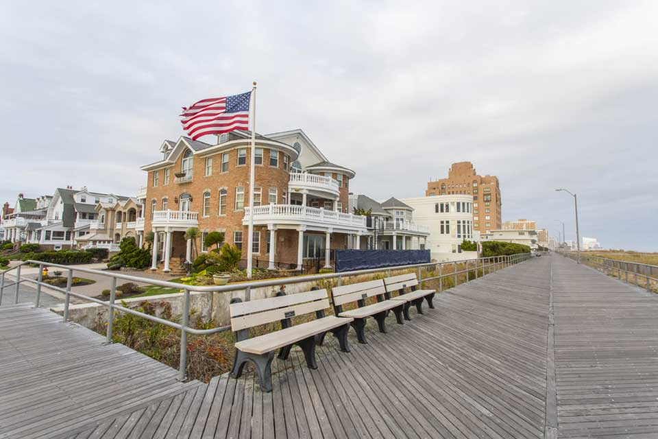 american flag ventnor nj boardwalk