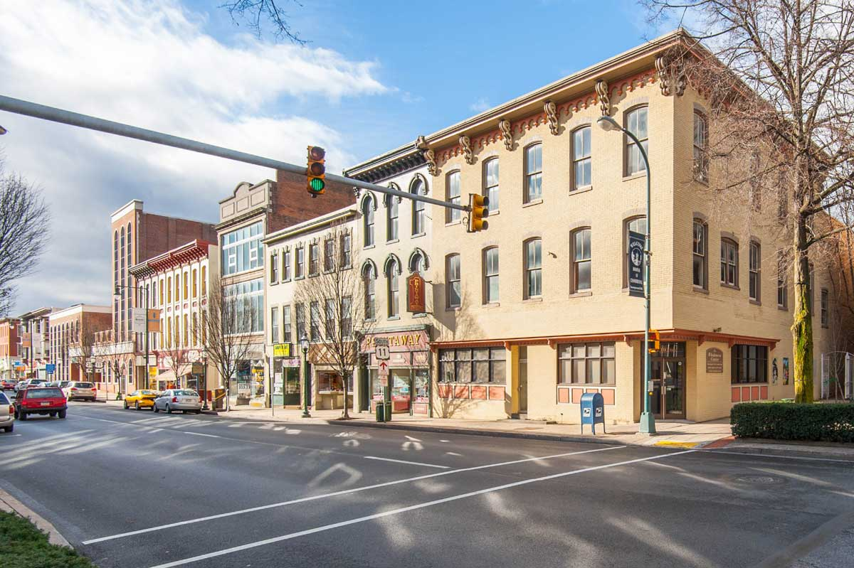 Downtown businesses in Chambersburg, PA