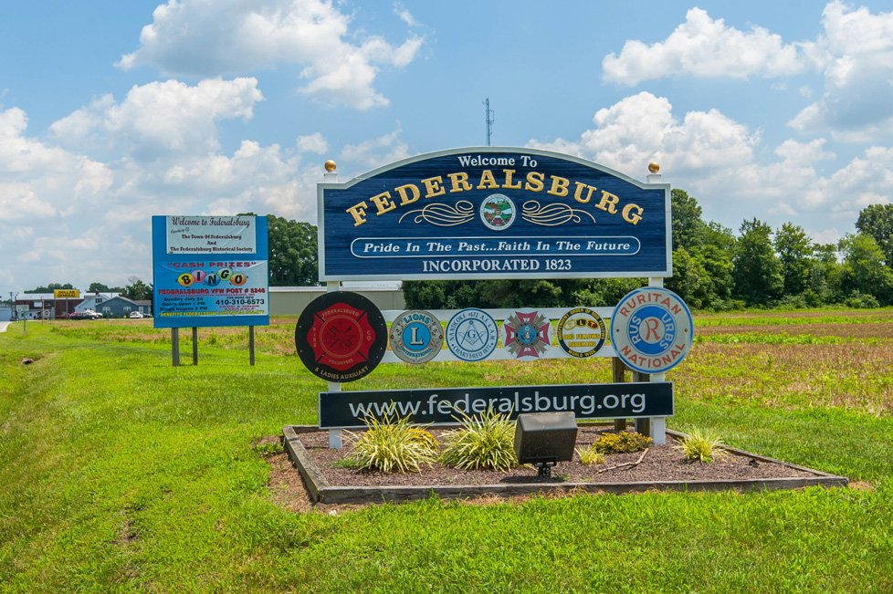 welcome to federalsburg md sign