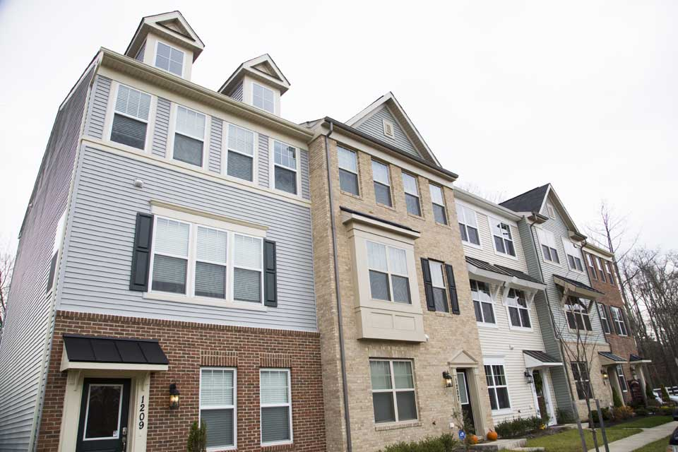 Usa Maryland Catonsville Street Outdoor Fort Meade Townhouse Neighborhood  In Fort Meade, MD