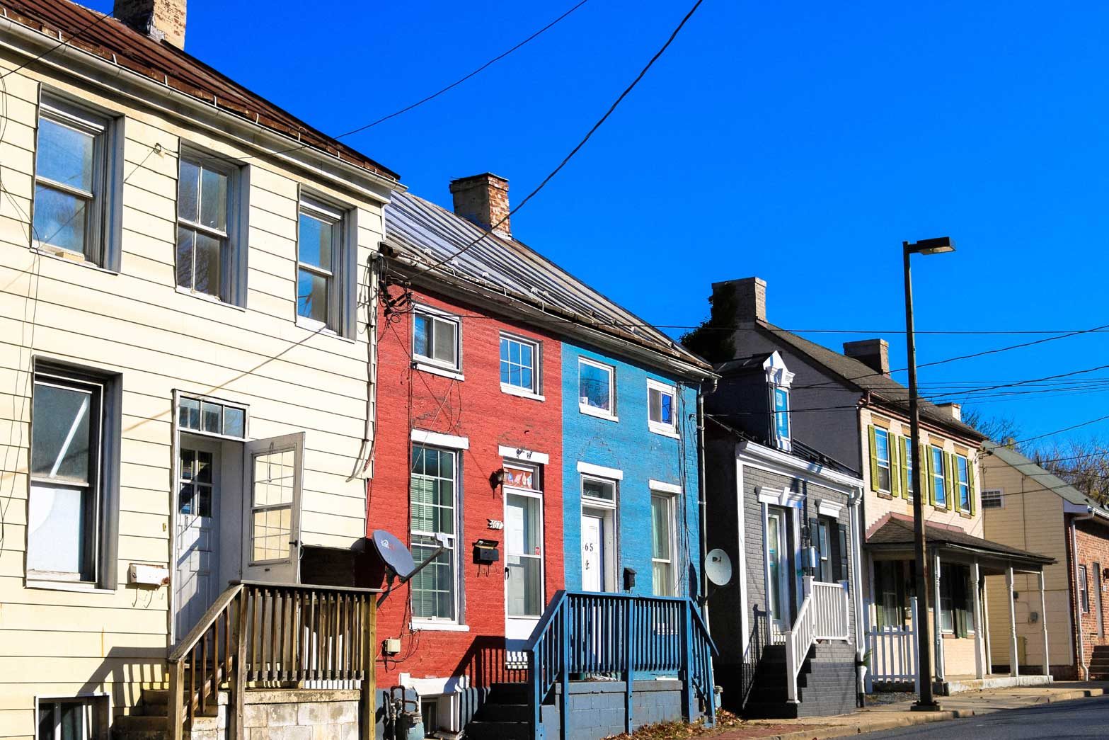 Row houses in Frederick, MD
