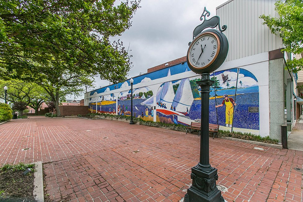 mural and clock in cambridge md