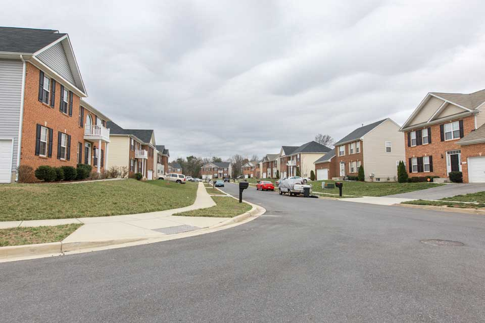 Single family home neighborhood in Camp Springs, MD