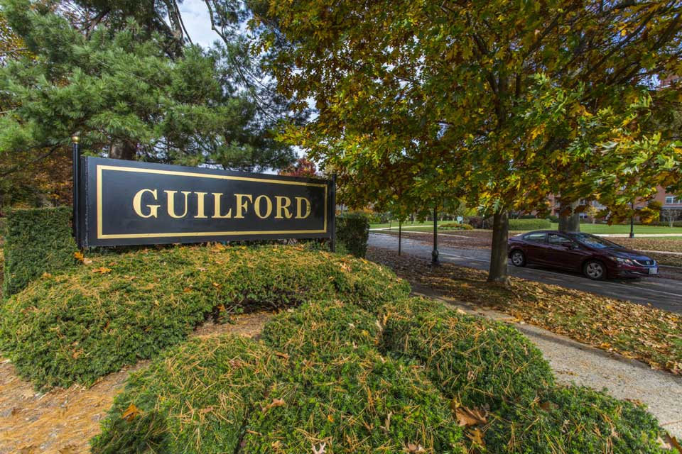 Guilford sign in Guilford, Baltimore, MD