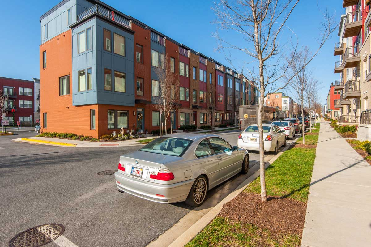 Condos and cars in Hyattsville, Md