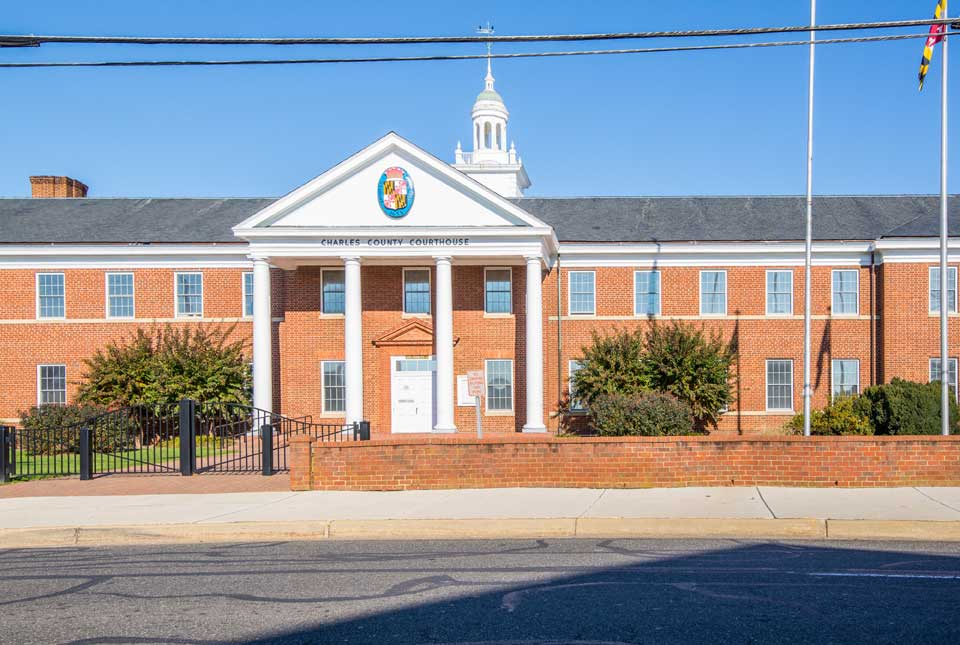 Charles County Courthouse in La Plata, MD