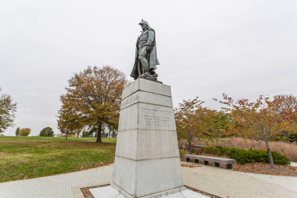 Statue in Ft McHenry in Locust Point, Baltimore, MD