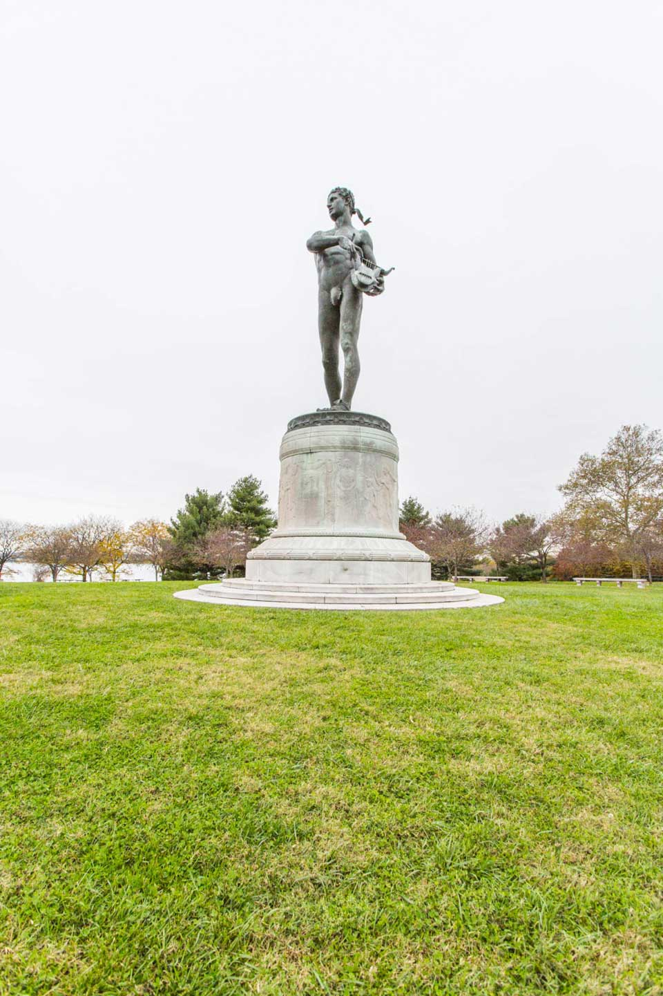 Statue in park in Locust Point, Baltimore, MD