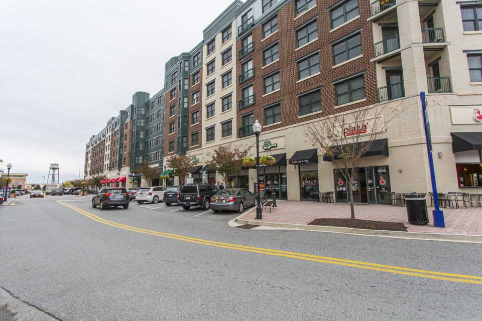 Condos over shops in Locust Point, Baltimore, MD