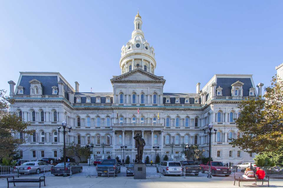 City Hall in Baltimore, MD