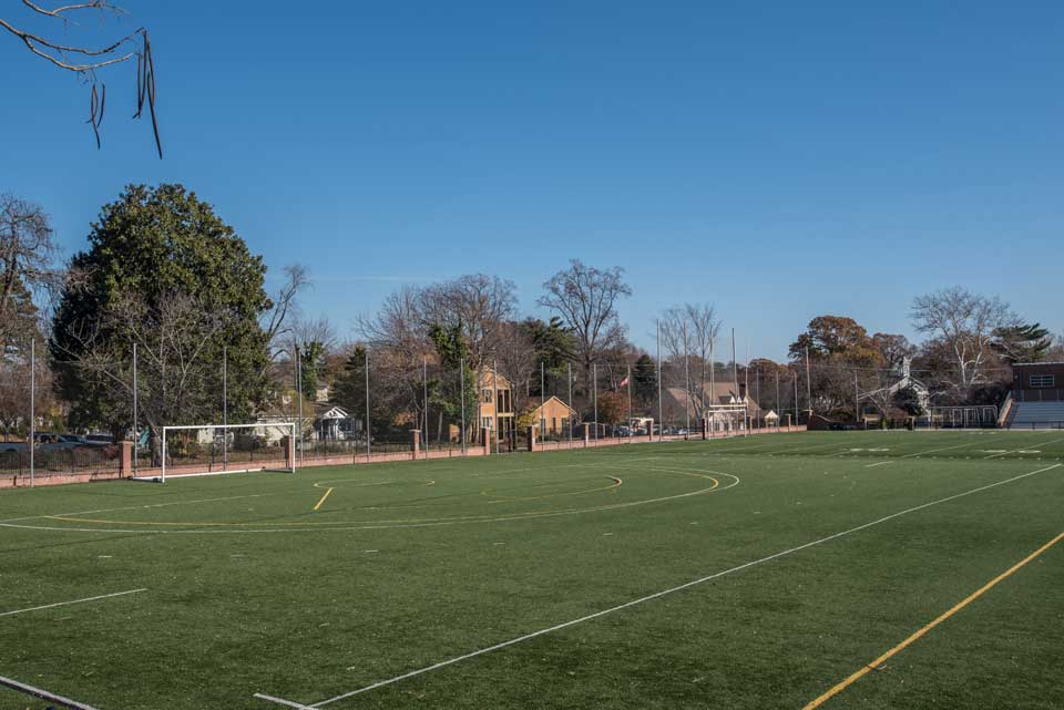 Soccer field in Severna Park, Md