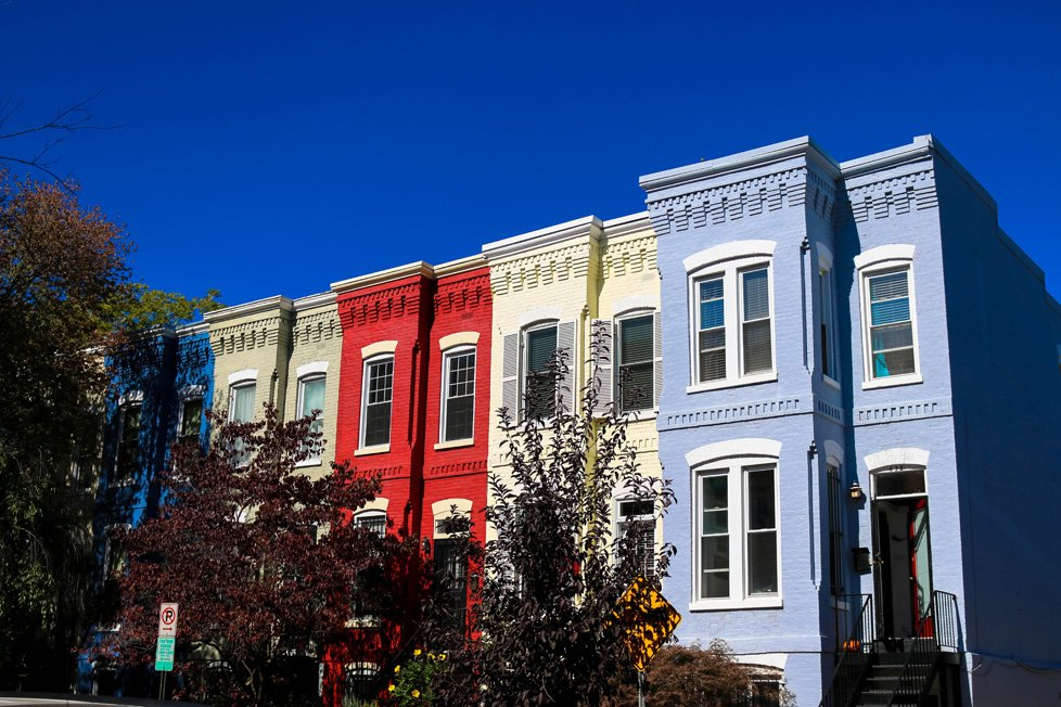 row houses in capitol hill washington dc