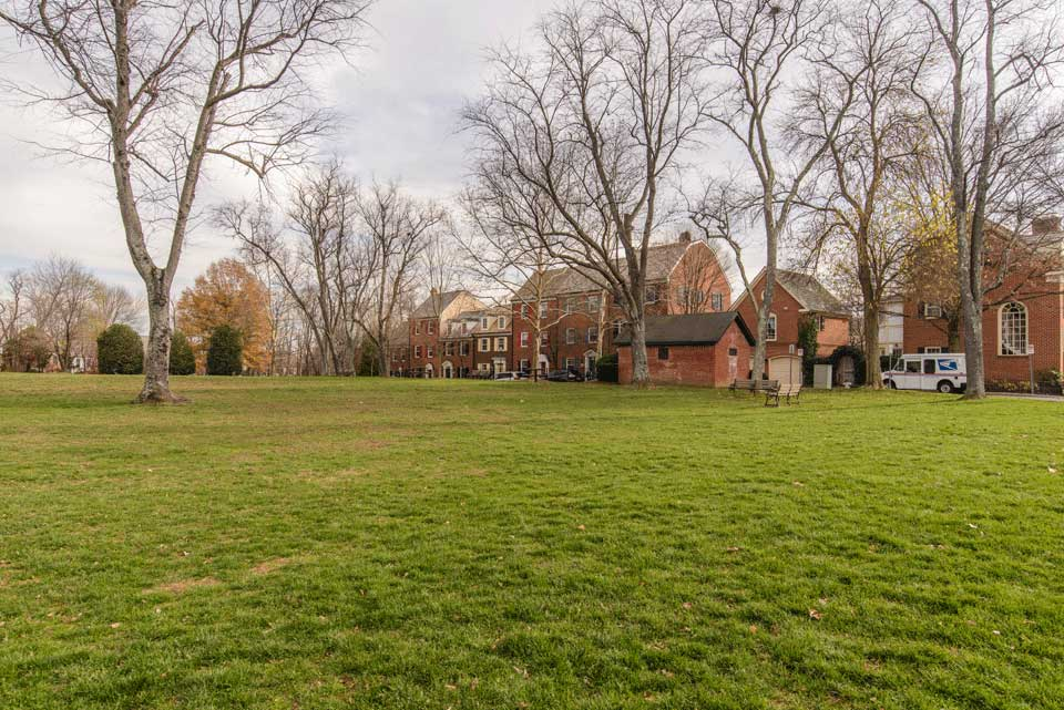 Homes and field in Kentlands, MD
