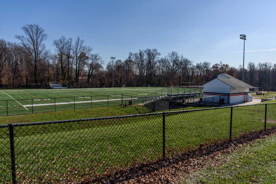Football field in Bowie, MD