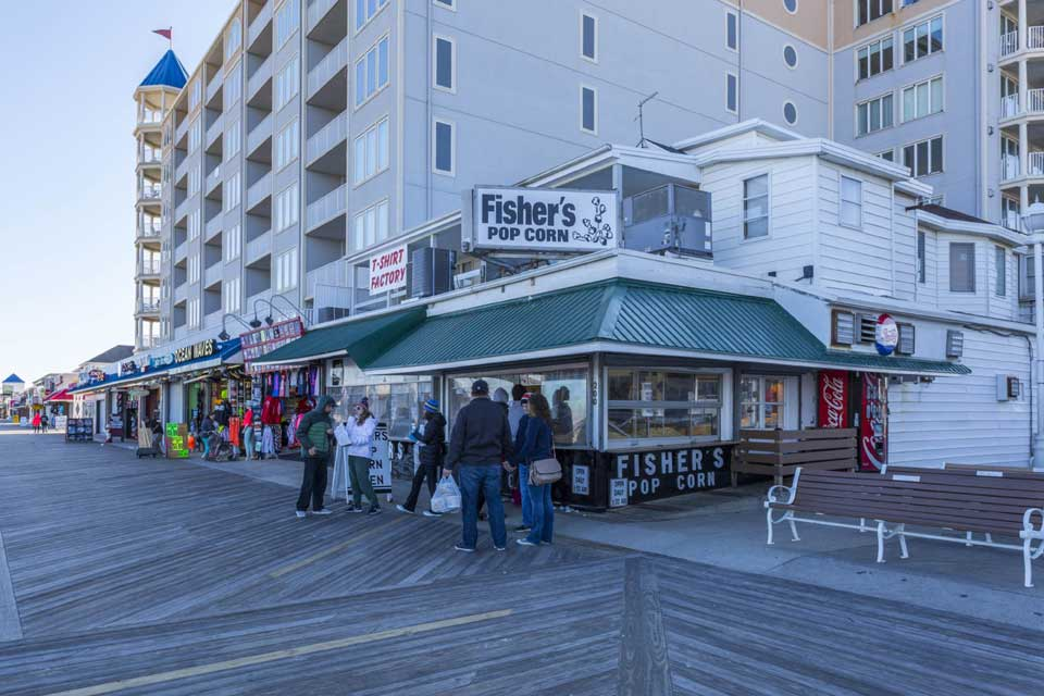 Fisher's Popcorn in Ocean City, MD