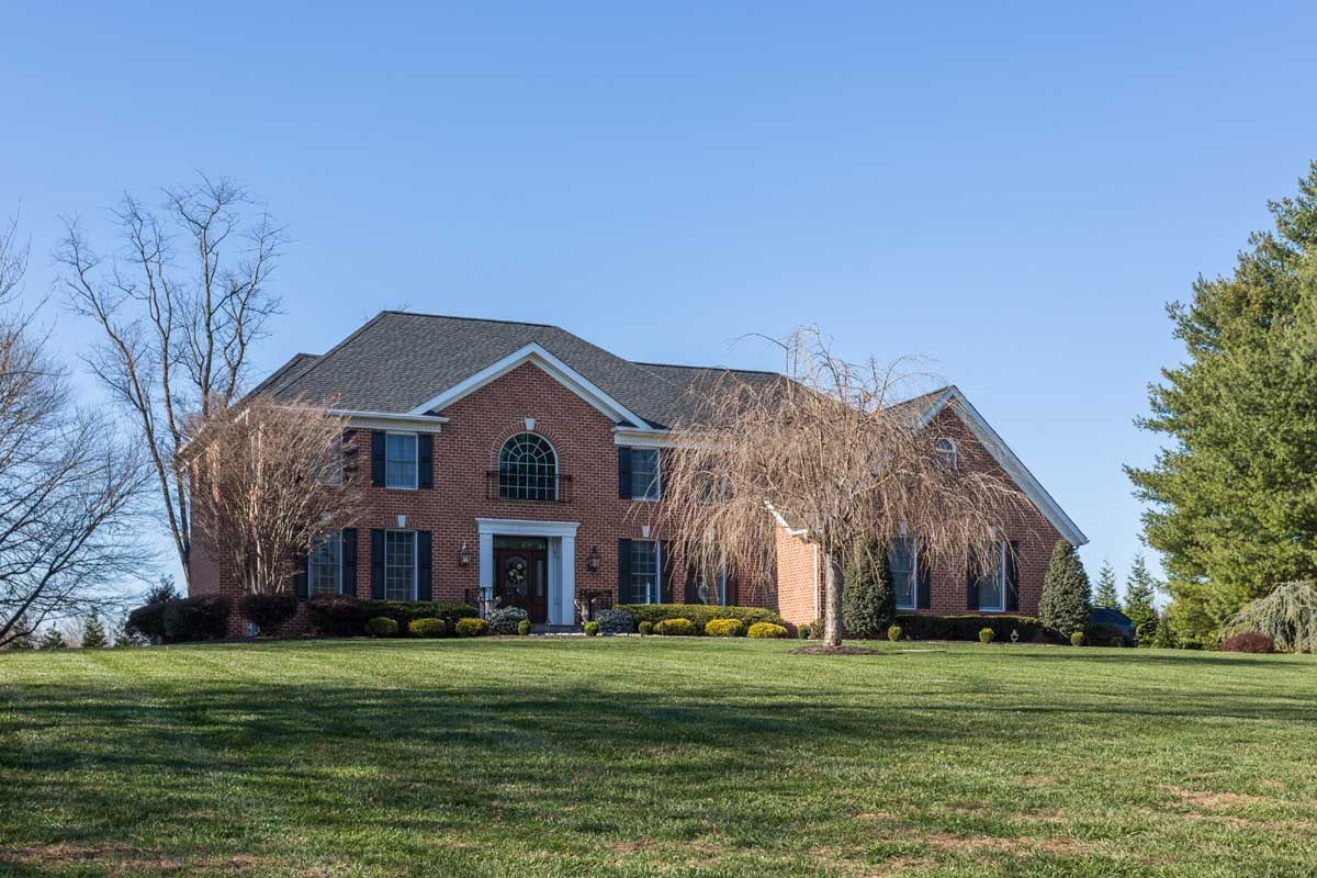 Brick front residential home in Phoenix, MD