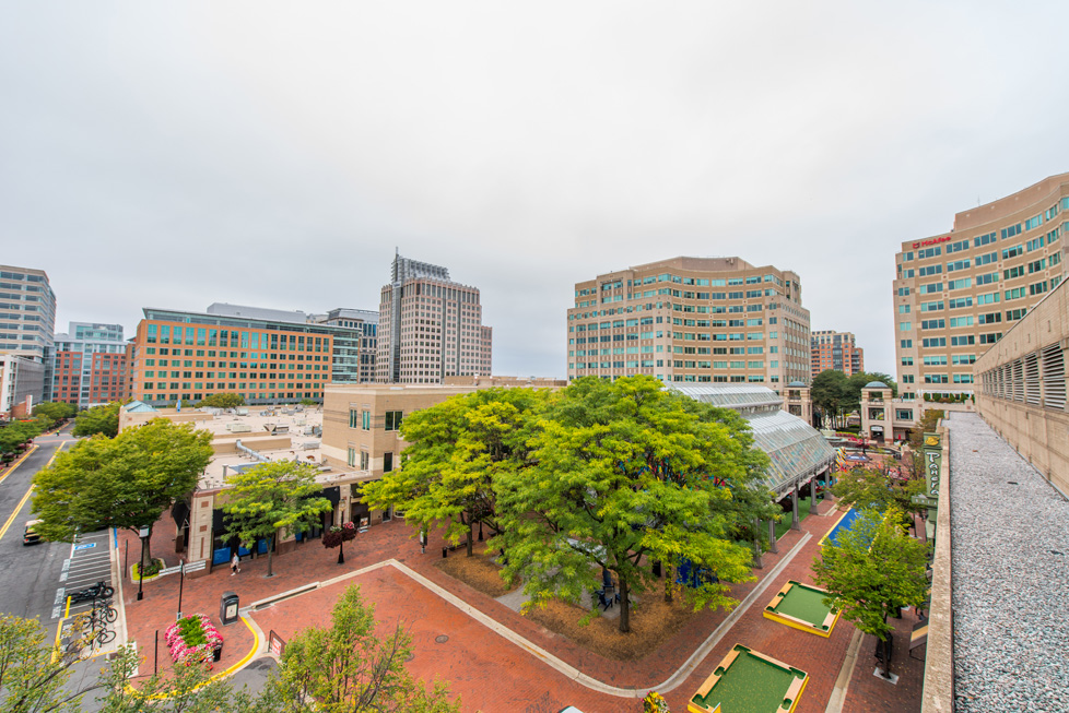 Reston Town Center Aerial View