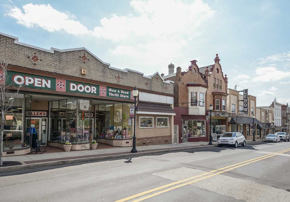 Shopping district in Royersford, PA