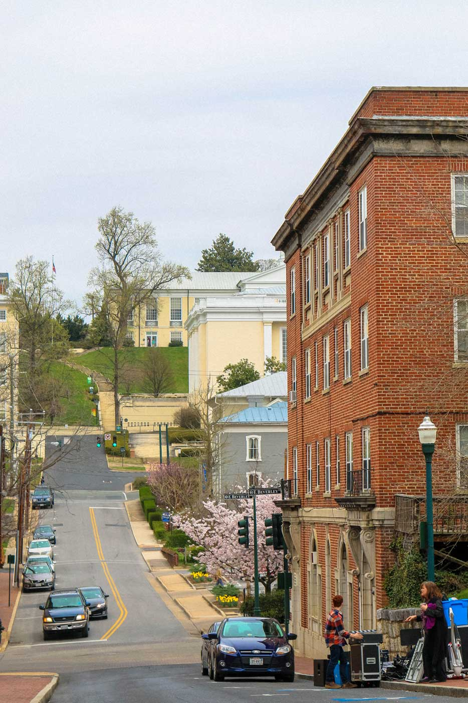 Downtown street in Staunton, VA