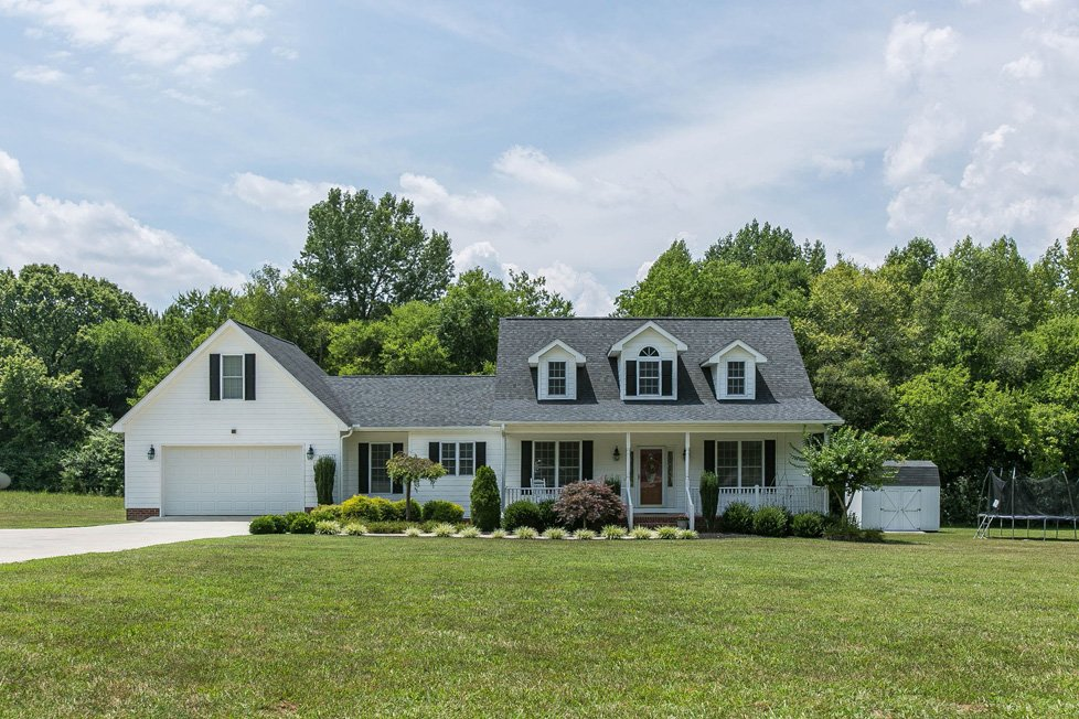 white single family home lake gaston va
