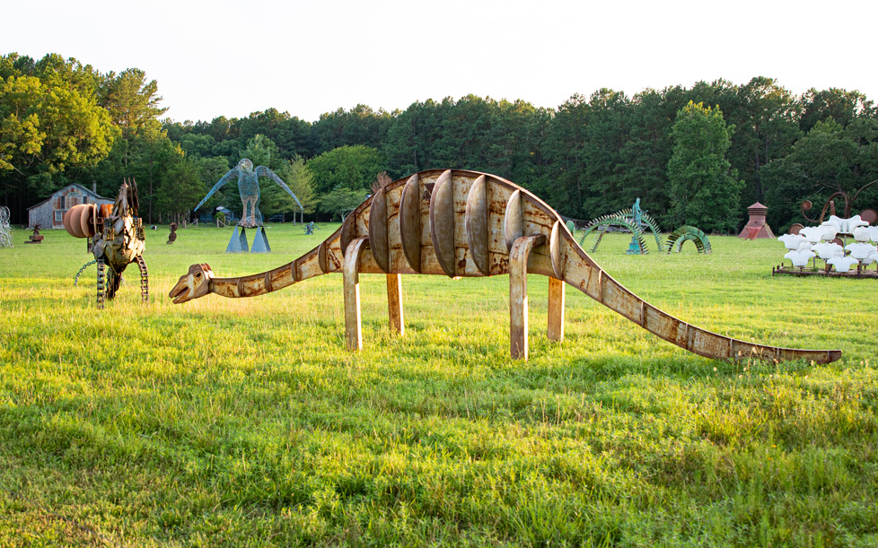 South Boston, VA Dinosaur Sculpture
