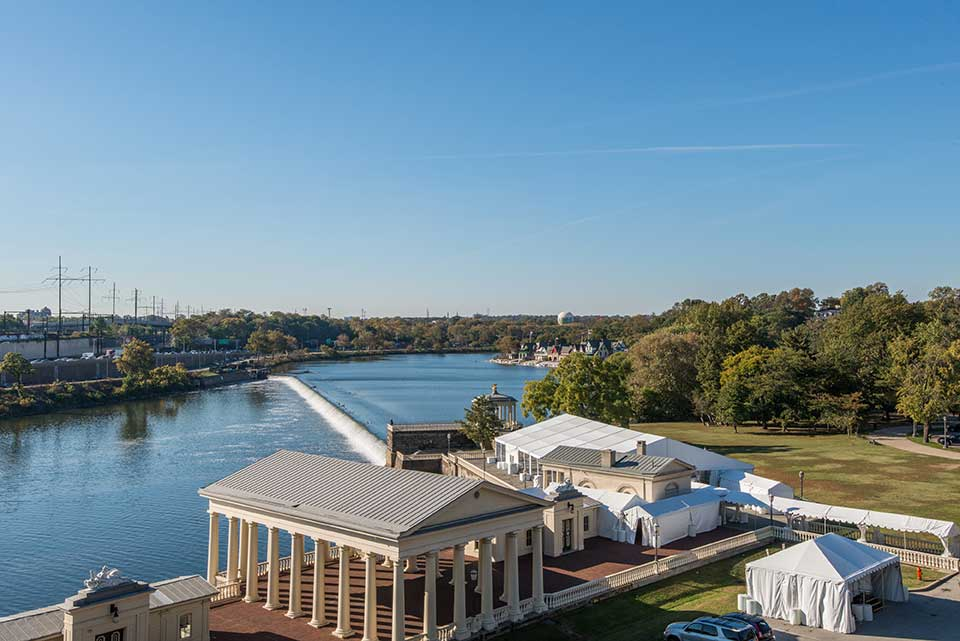 View of the Schuylkill River in Art Museum, Philadelphia, PA