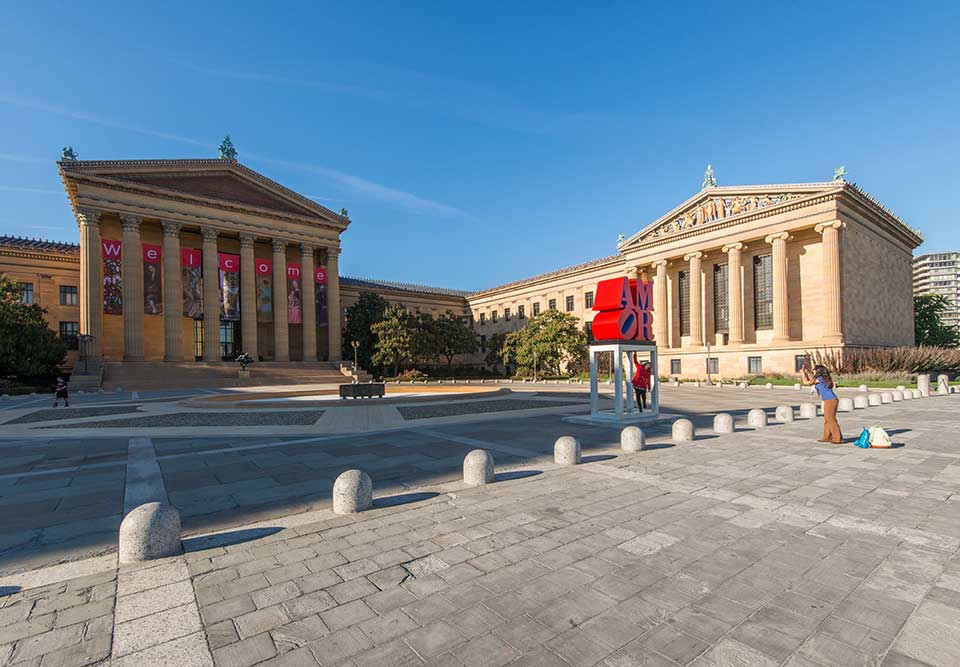 Philadelphia Museum of Art and open square in Art Museum, Philadelphia, PA