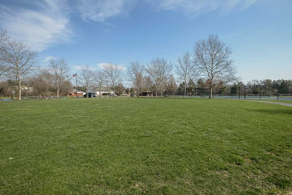 Park and sports courts in Exton, PA