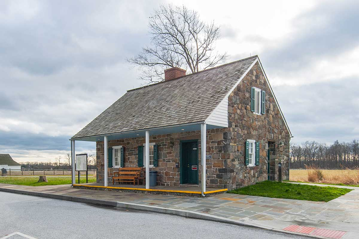 Historic building on battlefield in Gettysburg, PA