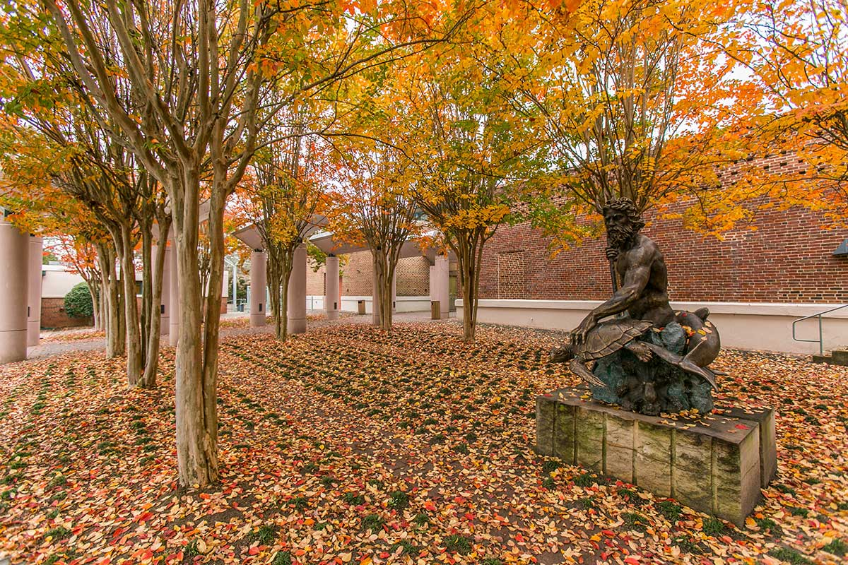 Statue and trees in Glen Allen, VA